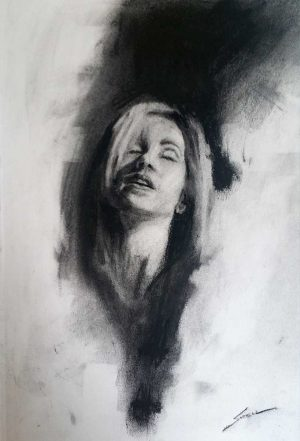 charcoal figurative drawing
