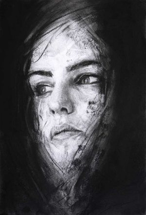 charcoal drawing portrait