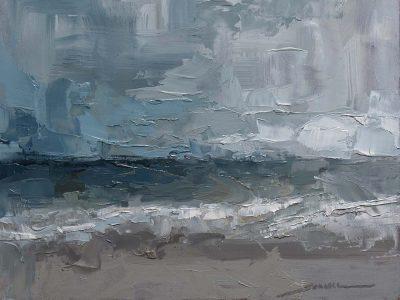 Vero Beach Waves   12x9 inch   oil on panel