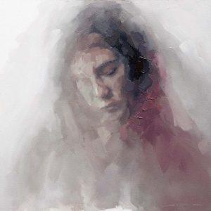 Title Nestle oil paint by des moines artist Josh Sorrell